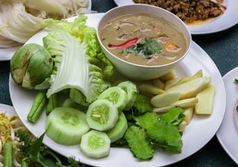 lon taojio,simmer ,coconut milk and fermented soya bean sauce