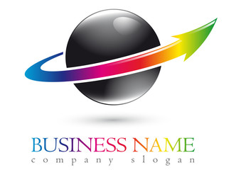 Business logo 3D sphere design