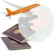 concept voyages par avion autour du monde
