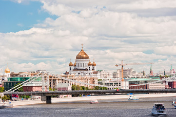 Moscow. View of the Cathedral of Christ the Savior