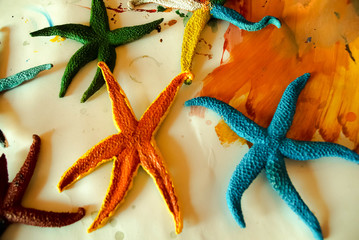 Painted Starfishes