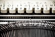 type bars and white buttons of typewriter