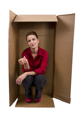Professional Woman Living in a Box