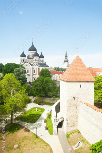 View of old town, Tallinn, Estonia