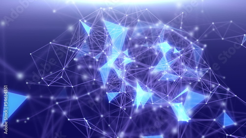 Abstract  background with triangles and network.