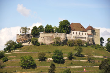 Medieval castle in Lenzburg, Switzerland