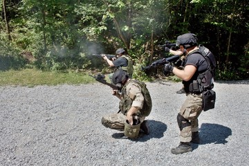 special police unit in training