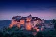 canvas print picture - Burg Burghausen bei Nacht