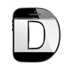 conceptual modern art design of the alphabet letter D