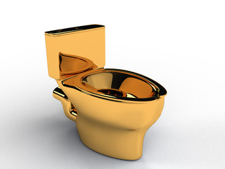 Golden toilet bowl #1