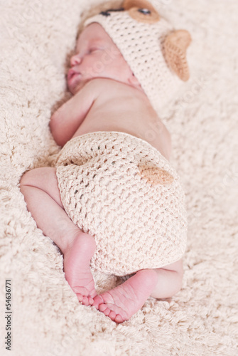 cute newborn baby sleeps