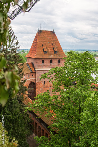 Gdanisko - One of the towers of a medieval castle. Malbork. Pola