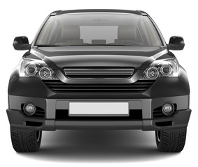 Black Mid-size SUV - front view