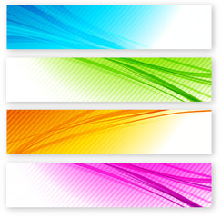 Set of color banner