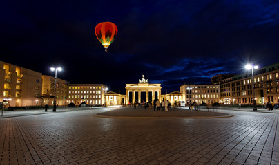 BRANDENBURG GATE at night in Berlin
