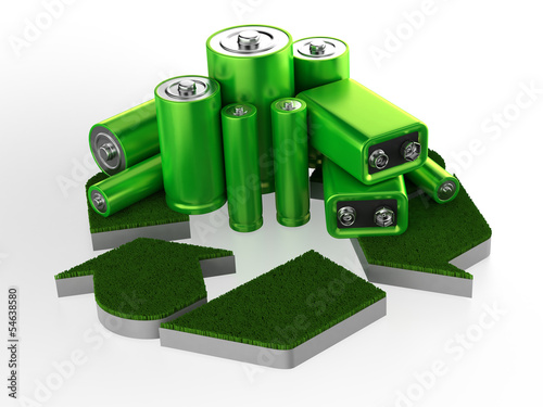 Accumulator battery with recycle sign