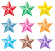 Collection of colorful stars - 54639549