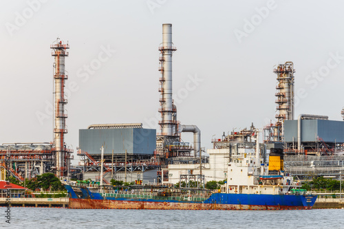 the morning petroleum and oil refinery  factory