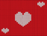Knitted vector hearts