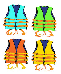 4 colorful of life jacket