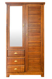 Wooden wardrobe isolated