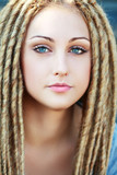Fashion hairstyle with dreads