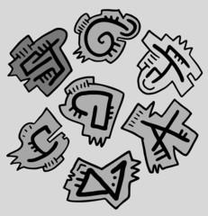 Grey pieces