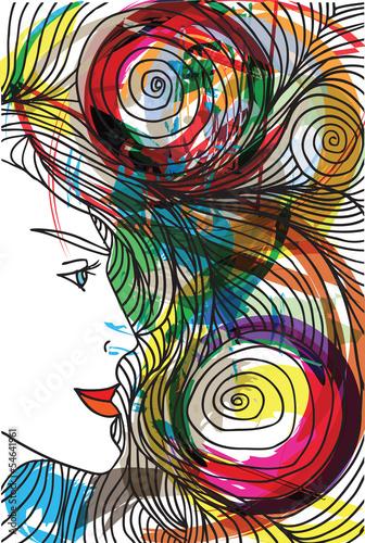 streszczenie-szkic-twarzy-kobiety