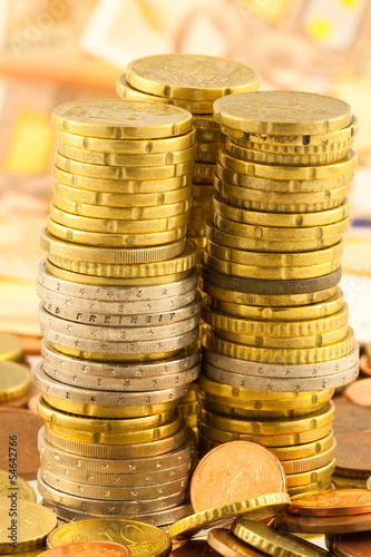 pièces empilées
