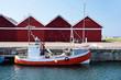 Kleines, rotes Fischerboot - 54643770
