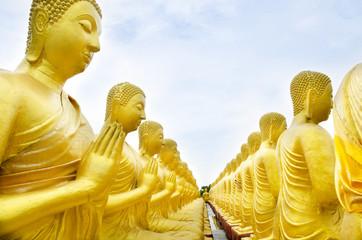 buddha status at temple, Nakhon Nayok, Thailand
