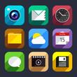 Flat icons vector set