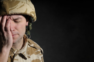 Soldier Suffering With PTSD