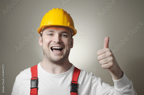 Happy young worker