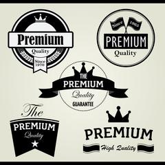 Premium vintage stamp and label
