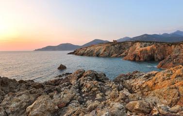 coucher de soleil Galéria Corse
