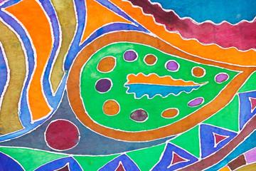 cold batik pattern on silk