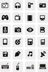 24 boutons multimédia