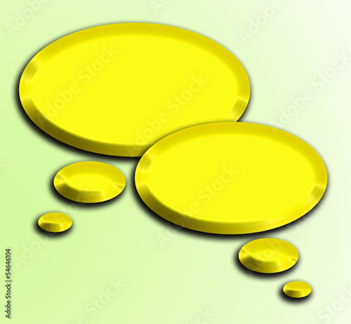 golden 3d speech bubbles