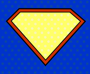 Super hero shield in pop art style