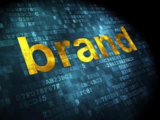 Marketing concept: Brand on digital background