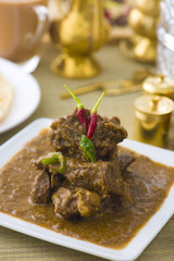 korma indian mutton curry dish