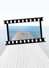 pellicola fotografica su foto digitale