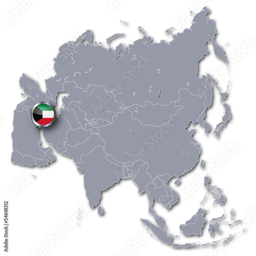 Asienkarte Kuwait
