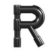 Black Plastic Alphabet R