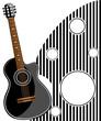 Classic Guitar Vector Illustration, EPS 10.