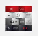 Modern Design Minimal style infographic template / can be used f