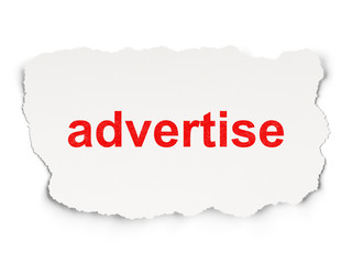 Advertising concept: Advertise on Paper background
