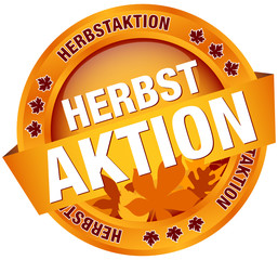 "Button Banner ""Herbstaktion"" Laub"