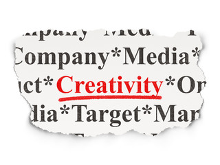 Marketing concept: Creativity on Paper background